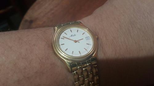 Relógio Mido Plaquet De Ouro 18k