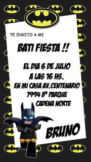 Tarjetas Invitacion Batman En Mercado Libre Argentina