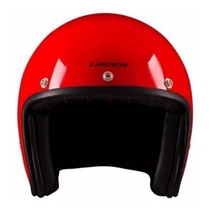 Capacete Aberto Lucca Custom Glossy Red 56/58