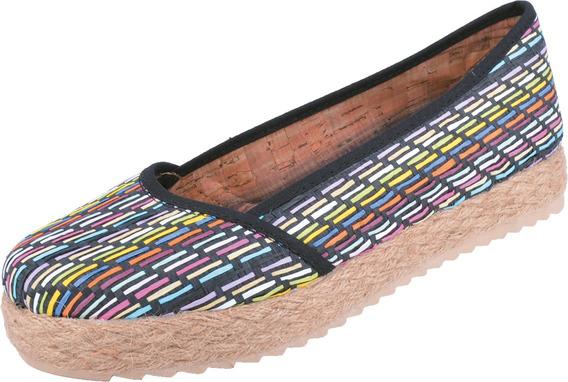 Chatita Zapato Con Plataforma Baja Dama Mujer Yute Art 411