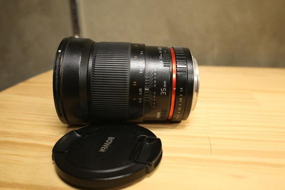 Lente Bower 35mm F/1.4 As Para Canon Antiga Rokinon
