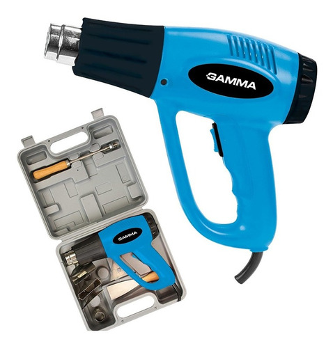 Imagen 1 de 8 de Pistola De Calor En Kit Gamma 2000w 300º/550ºc + Accesorios