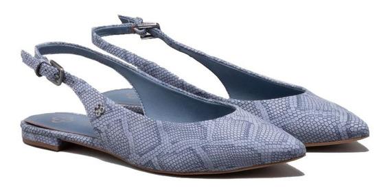 Slingback Em Couro Snake Jeans Capodarte 4014245