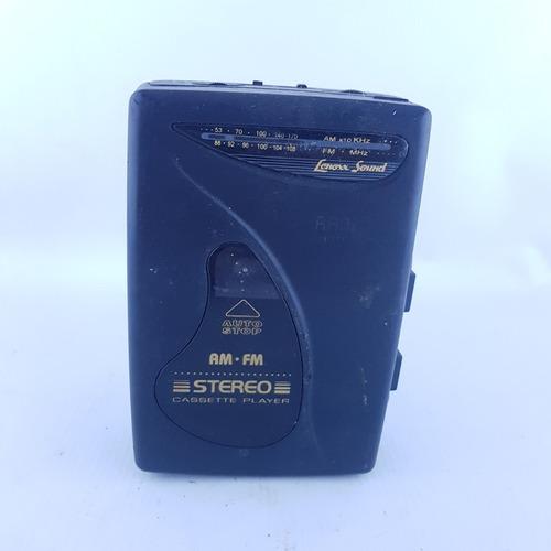 Walkman Lenoxx Sound Am/fm Rádio Stereo Cassete Player #d