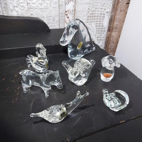 Imagem 1 de 8 de Lote Decoração Enfeite Cristal 7 Unidades