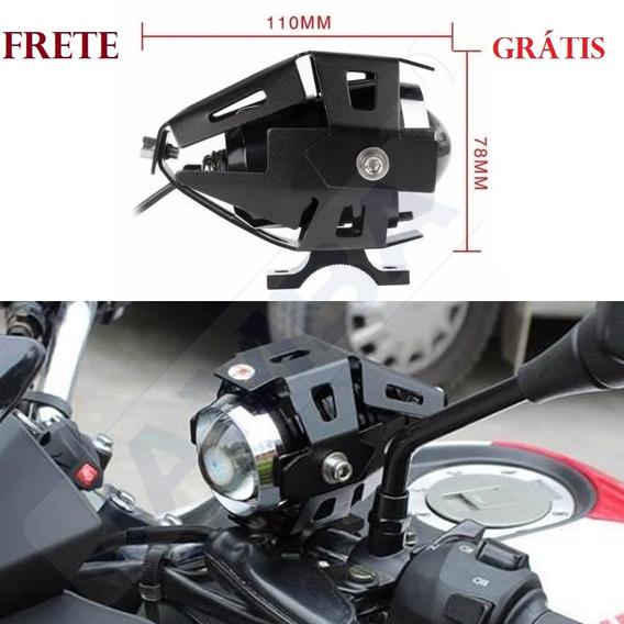 2 Farol Milha Led Neblina Moto Universal Xênon Frete Grát