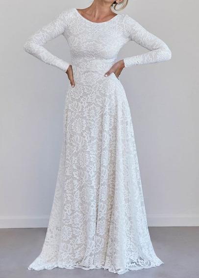 Vestido Branco Longo Solto Vestidos Femeninos Longo Com O