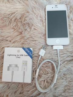 iPhone 4s 16gb Branco Em Perfeito Estado, Capa E Cabo Novo