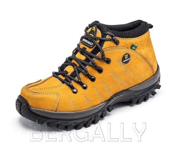 Sapato Tênis Adventure Trekking Caminhada Em Couro Promoção