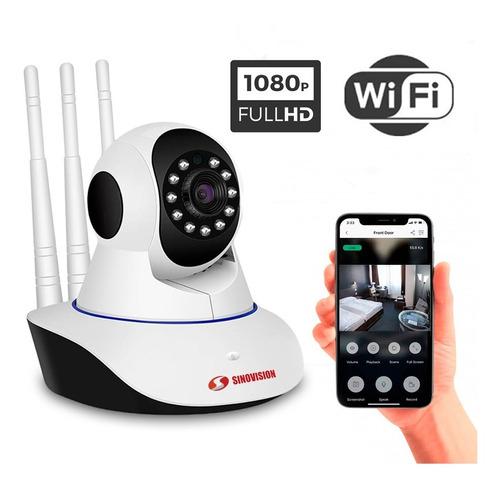 Imagen 1 de 8 de Cámara De Seguridad Ip Wifi Full Hd 1080 Con Movimiento