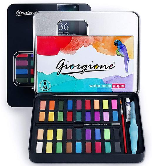 Juego De Pintura De Acuarelas, 36 Colores