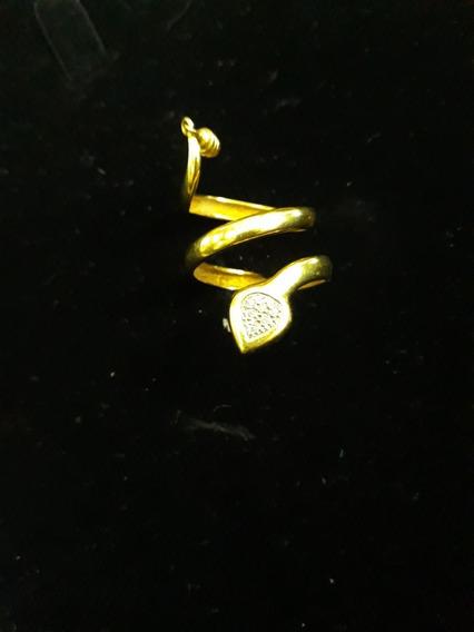 Anel Em Ouro 18 K 750 Em Formato De Cobra