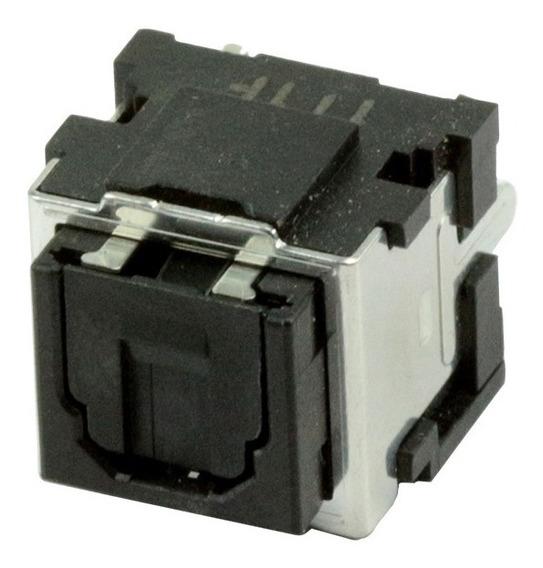 Kit C/ 5 Conector Femea Ótico Metalico Pci 90 Graus 3 Term