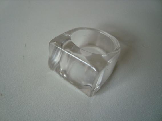 Anel De Pedra Quartzo Cristal Natural Polido Aro 23 - A57