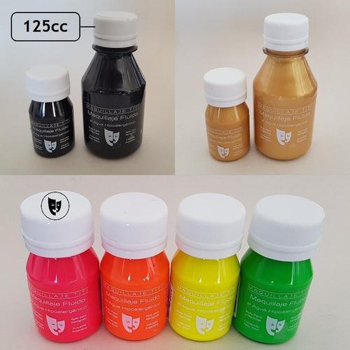 Imagen 1 de 1 de Body Paint Al Agua Maquillaje Titi 125cc -- Fluo Rosa