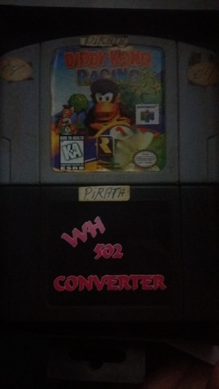 Adaptador P/cartuchos Paralelos+diddy Kong Racing Brinde N64