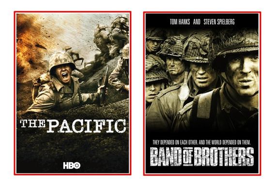 Band Of Brothers + The Pacific Dublado Completo + Extras !!