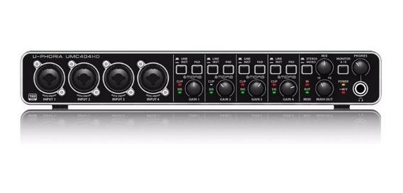 Interface De Audio Behringer U-phoria Umc404hd - Ac1415