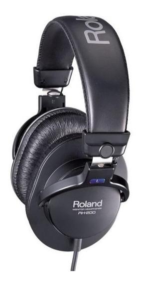 Fone De Ouvido Roland Rh-200 - Com Adaptador P10