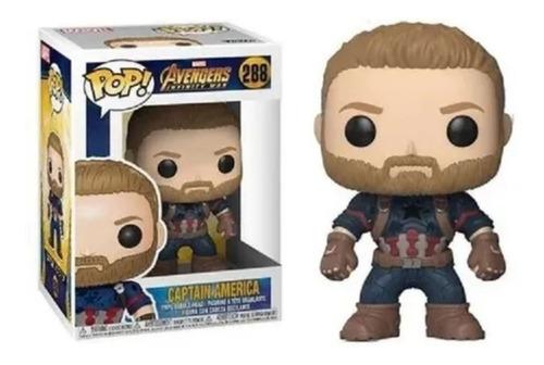 Avengers Pop Compatible Captain America(288) Colores En Fuga