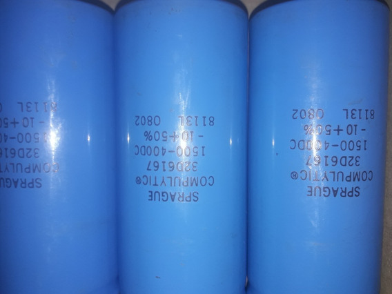 Capacitor Electrolitico Sprague 1500 Uf. 400 Dc.