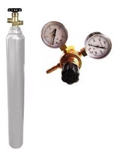 Tubo Co2 De 2 Mt3 = 10 Kg + Regulador P/ Cerveza Chopera