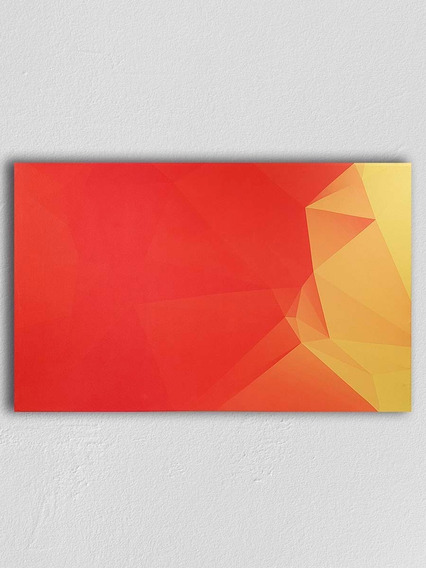 Cuadro Decorativo Moderno Everest Rojo Canvas Minimalista Expresionismo 120x80