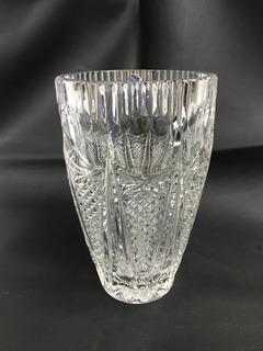 Florero Cristal Bohemia Con Sello Elaborado En República Che