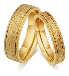 Par Argollas De Matrimonio Plata Y Baño De Oro Con Envio A19