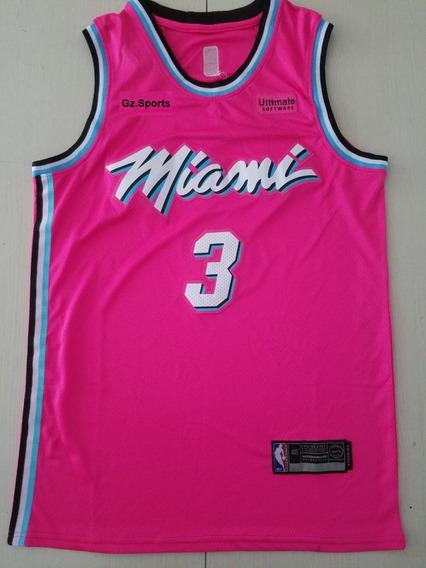 Dwayne Wade #3 Miami Heat City Edicion New 2019 - A Pedido