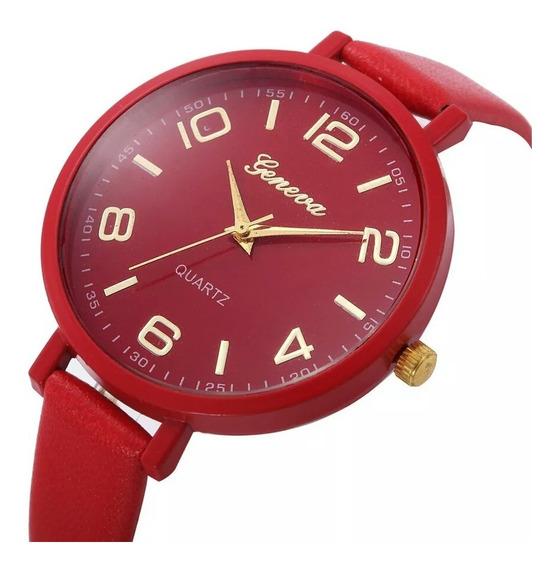 Lindo Relógio De Luxo Feminino Pulseira De Couro