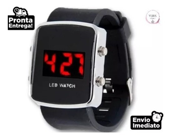 Relógio Esportivo Digital Led Colorido Unissex