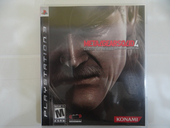 Metal Gear Solid 4 Guns Of The Patriots - Ps3 - Completo!