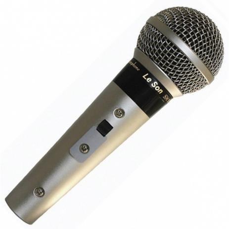 Microfone Profissional Para Escola Leson Sm 58 Com Cabo
