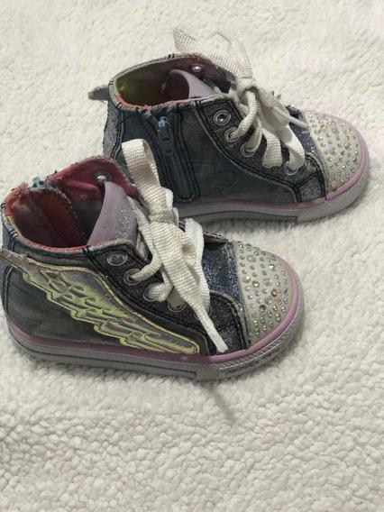 Zapatillas Skechers Con Luces Nena N.21