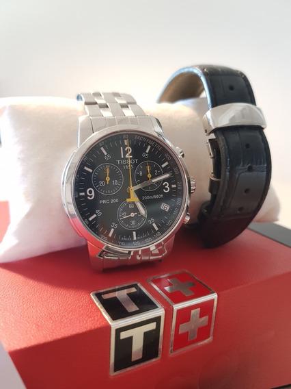 Relógio Tissot Prc200 Com Pulseira De Couro Extra!