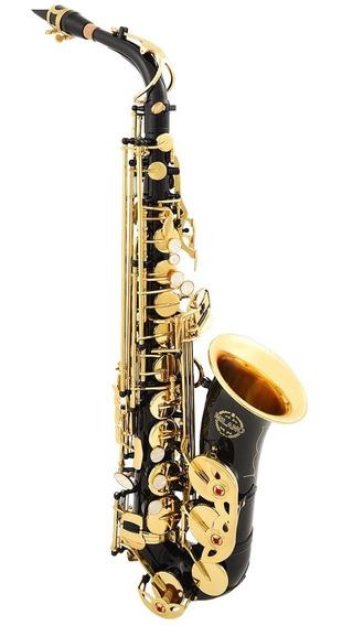 Saxofone Milano Alto Preto Onix C/ Chaves Laqueadas Eb Loja