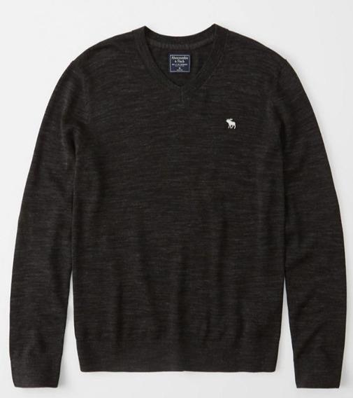 V-neck Sweater (saco) Abercrombie 100% Original Cuello En V