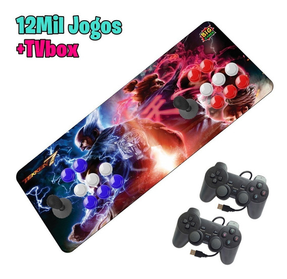 Fliperama Portátil Arcade Aegir32gb + 2 Dualshok Sem Juro