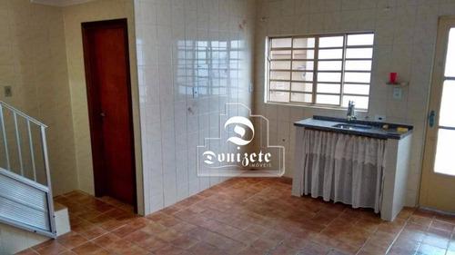 Casa Com 2 Dormitórios, 195 M² - Venda Por R$ 415.000,00 Ou Aluguel Por R$ 1.200,00/mês - Condomínio Maracanã - Santo André/sp - Ca0886