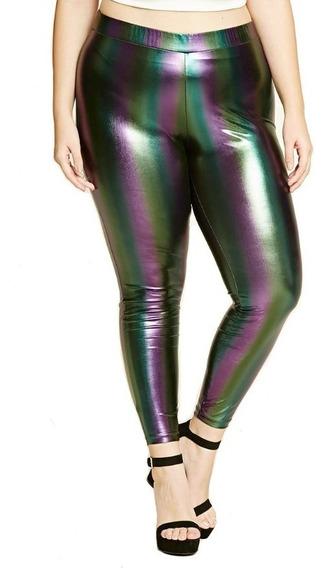Leggings/calza Metalizada Linea Plus F21 Xxxl