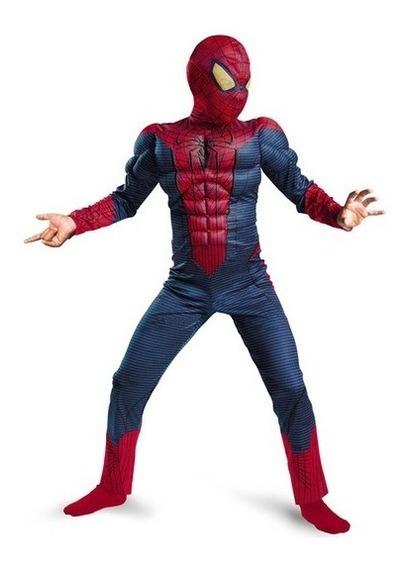 Disfraz Tipo Spiderman Hombre Araña Niños Envío Gratis