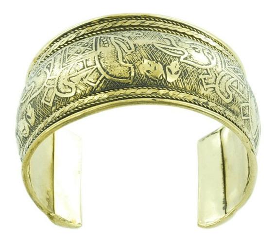 Bracelete Indiano Feminino Ouro Velho