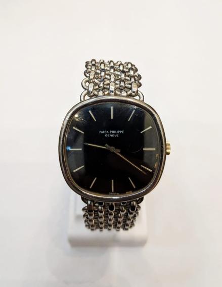 Relógio Patek Philippe 3844/2 Cushion Ouro Branco