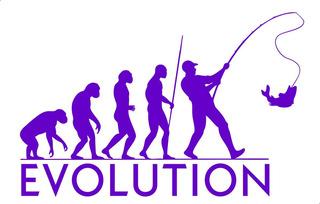 Adesivo Evolução Do Pescador - 25 X 15 Cm - Frete Econômico