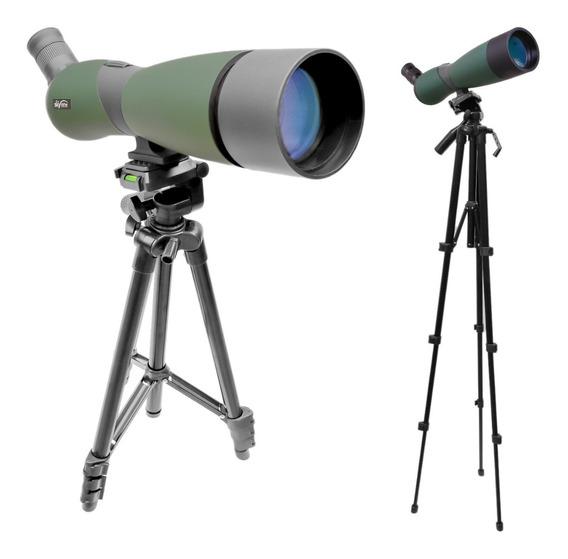 Luneta Skylife 25x70 Predator Pro + Tripé Versus 4 Estágios
