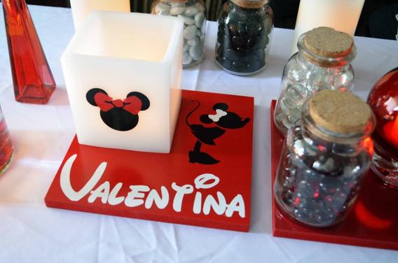 Centro De Mesa De Minnie Mouse Rojo Aluzza