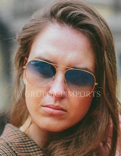 Óculos De Sol Rayban Rb3026 Azul Degrade Cristal Top + Frete