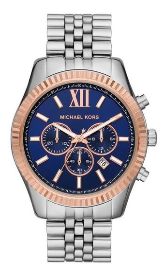 Relógio Feminino Michael Kors Lexington Prata - Original