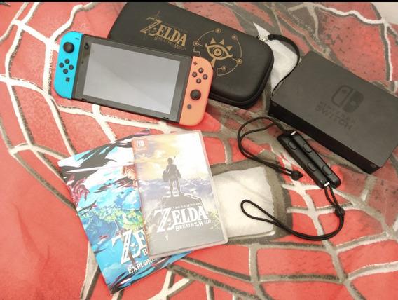Nintendo Switch + Acessórios + Jogos
